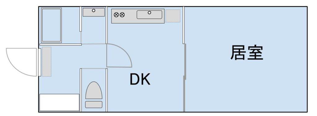 1DKの間取りイメージ