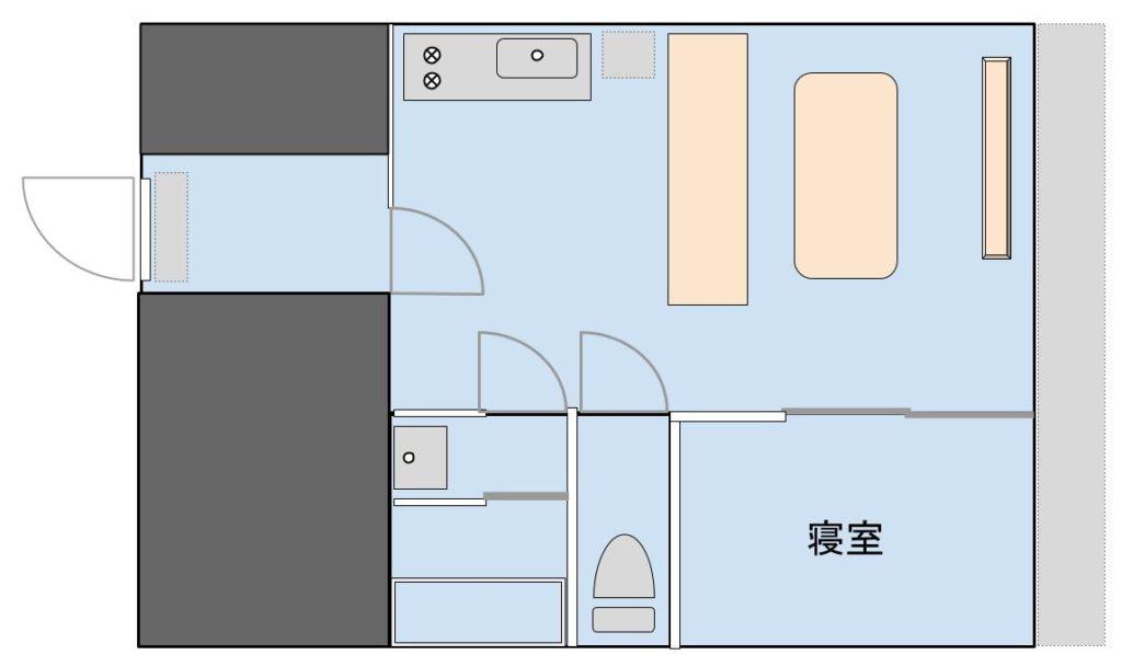 1LDK物件②(東京)の間取りイメージ