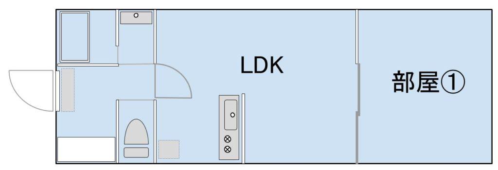 間取り④:1LDK