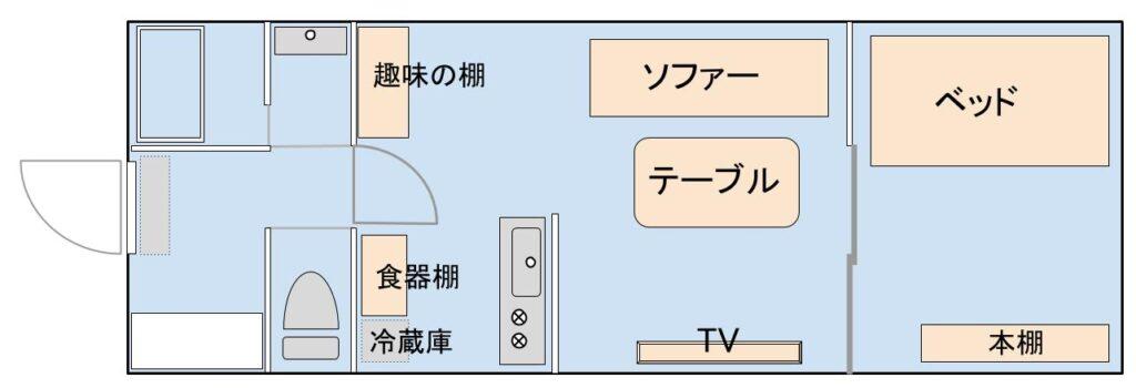 家具家電の配置イメージ図